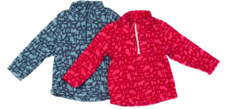 jachete pentru copii din material fleece